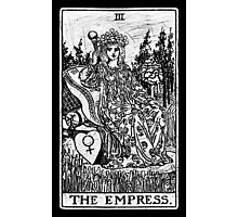 The Empress Tarot Card - Major Arcana - fortune telling - occult Photographic Print