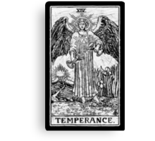 Temperance Tarot Card - Major Arcana - fortune telling - occult Canvas Print