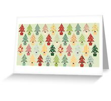 Christmas Trees Pattern Greeting Card
