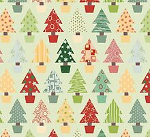 Christmas Trees Pattern by solnoirstudios