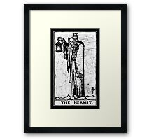 The Hermit Tarot Card - Major Arcana - fortune telling - occult Framed Print