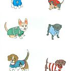 Dogs in Holiday Sweaters by PersonalGenius