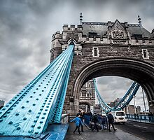 At the Foot of Tower Bridge by thirdiphoto