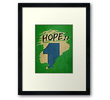 Hope!! (time machine) Framed Print