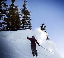 Snow Shoe Jump by Darren Newbery