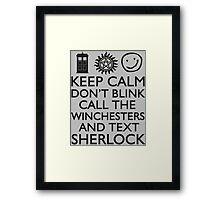SUPERWHOLOCK SUPERNATURAL DOCTOR WHO SHERLOCK Framed Print
