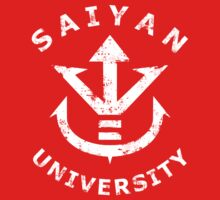Saiyan University - White version by Pixeltees