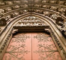 Strasbourg Cathedral - Door by Pamela Maxwell