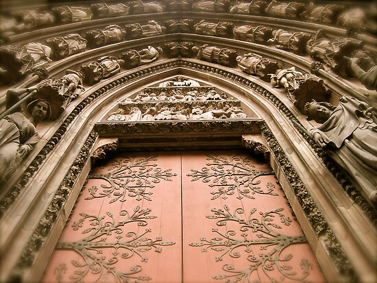 Strasbourg Cathedral - Door by Pamela McAdams