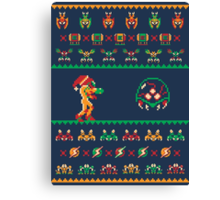 We Wish You A Metroid Christmas! Canvas Print
