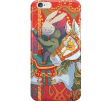 Rabbits at the Fairground iPhone Case/Skin