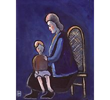The babysitter (from my original acrylic painting) Photographic Print