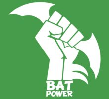 BATMAN POWER - BLACK POWER - BAT POWER ( white ) Kids Clothes