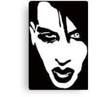 Stencil Marilyn Manson Face Canvas Print