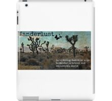 Wanderlust Travel Quote Collection iPad Case/Skin