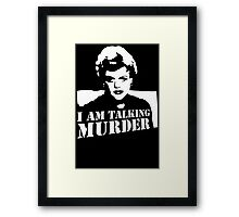 Stencil Murder She Wrote Deadly Lady Framed Print