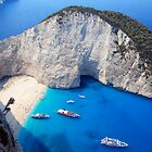 Navagio Bay Shipwreck by Carl Osbourn