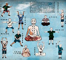 Qi Gong wall mural in China art photo print by ArtNudePhotos