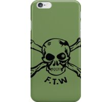 FTW Skull - Black iPhone Case/Skin