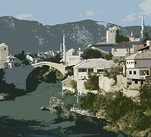 Mostar Bridge by Michael Birchmore