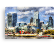 London View Art Canvas Print