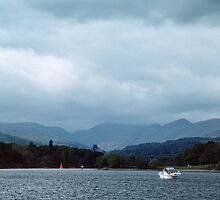 Boat on Bowness Lake District England 198405210009 by Fred Mitchell