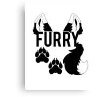 FURRY -clear tips- Canvas Print