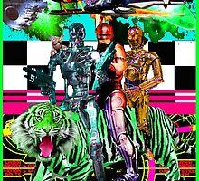 Robots Ride A Tiger by zandozan
