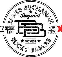 JBB - BUCKY BARNES TYPOGRAPHIC LOGO by fabricalchemist