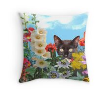 Mika's garden Throw Pillow