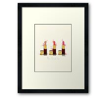 Lipstick 3 times the charm Framed Print