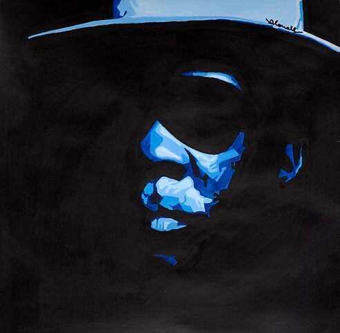 John lee Hooker acrylic painting 'POP ART' by Nathan Howell