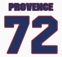 National football player Andrew Provence jersey 72 by imsport