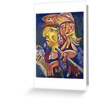 """Golden Calf 14 """"Two Faces in One"""" Greeting Card"""