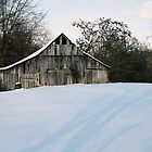 Winter Barn by darthdrew