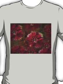 Burgundy flower design T-Shirt