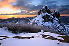 Winter Sunset, The Cathedral, Mt Buffalo, Australia by Michael Boniwell