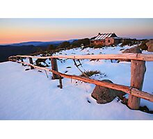 Winter Sunset, Craig's Hut, Australia Photographic Print