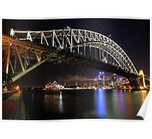 Sydney Harbour Bridge at Night, Australia Poster