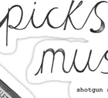 Driver Picks The Music Shotgun Shuts His Cakehole Sticker