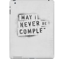 [ NEVER BE COMPLF       ] II iPad Case/Skin