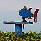 Girouette Poisson bleu by Jean-Luc Rollier