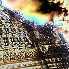 Angkor Sculpture and Sky by liqwidrok