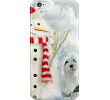 Snowdrop the Maltese & The Jolly Snowman iPhone Case/Skin