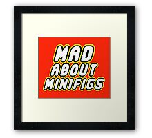 MAD ABOUT MINIFIGS Framed Print