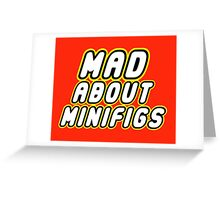 MAD ABOUT MINIFIGS Greeting Card