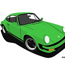 My own 911 in green by AxelWave