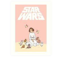 Disney Princess Leia Art Print