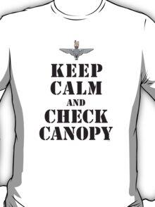 KEEP CALM AND CHECK CANOPY - PARACHUTE REGIMENT T-Shirt