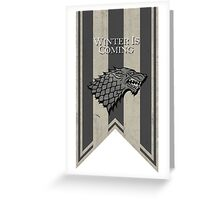 House Stark: Winter is Coming Greeting Card